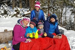 Familienausflug ins winterliche Wimbachgries